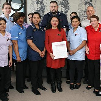 Staff team at Ashwood Nursing Home in Spalding